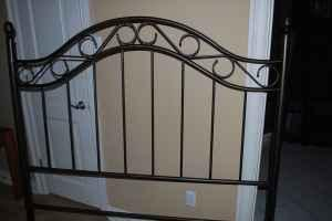 Black Wrought Iron Headboard