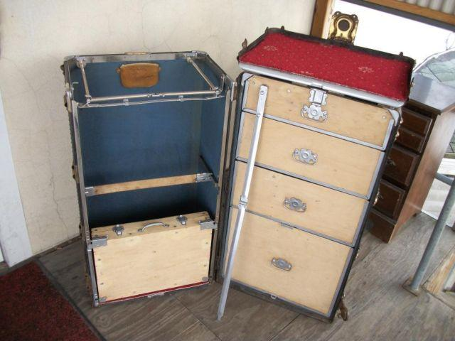 FUNKY ANTIQUE HARTMANN WARDROBE TRUNK-CIRCA1920s-wOWNERS MANUAL.