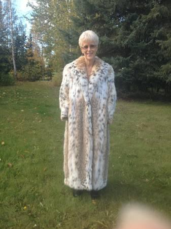 Fur Coat Real Canadian Lynx Full Length For Sale In