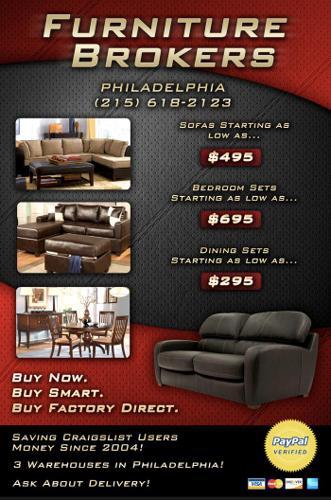 Furniture Big Warehouse Sale We Deliver For Sale In Philadelphia Pennsylvania Classified