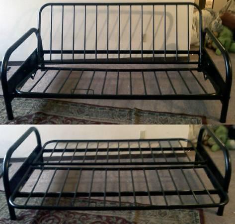 futon frame black steel tubing for sale in kokomo indiana classified. Black Bedroom Furniture Sets. Home Design Ideas