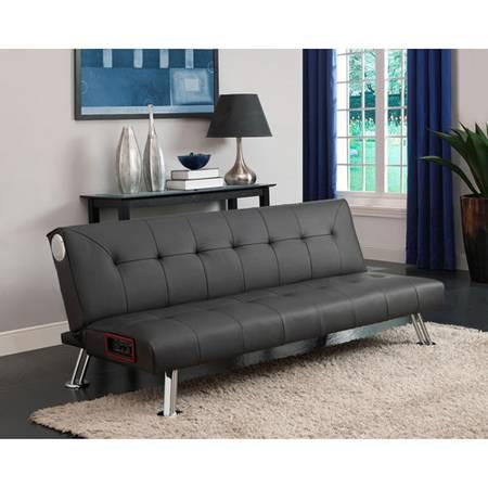 Futon With Blue Tooth Speakers 200