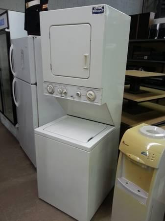 G.E. APARTMENT SIZE STACK WASHER AND DRYER COMBO 110V - for Sale in ...