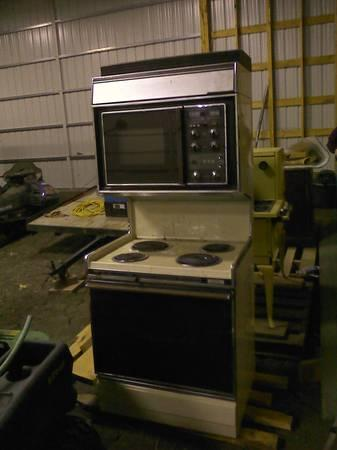 G Amp E Oven Range And Microwave Combo Upright Stacked For