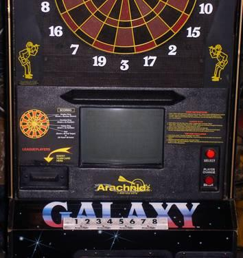 Galaxy Top Gun Electronic Coin Op Dart Board Commercial