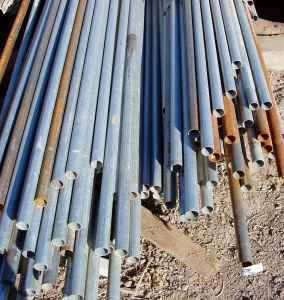 Galv blemished Pipe for rails and post on chain link,