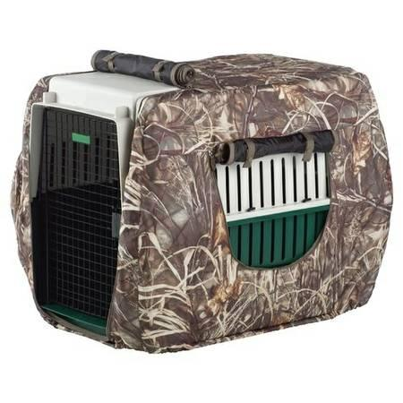 Game Winner dog crate with Camo cover - $125