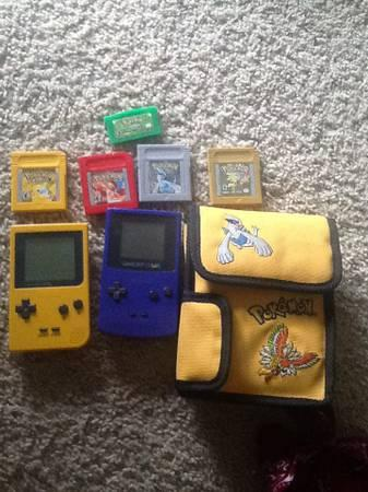 Gameboy Color/Pocket with Pokemon Games for Sale in