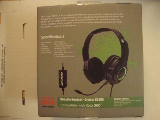 GamesterGear Cruiser XB200 Stereo Gaming Headset (Xbox