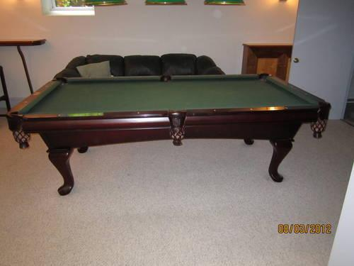 GANDY WINCHESTER POOL TABLE W ACCESSORYS For Sale In Beverly New - Gandy pool table