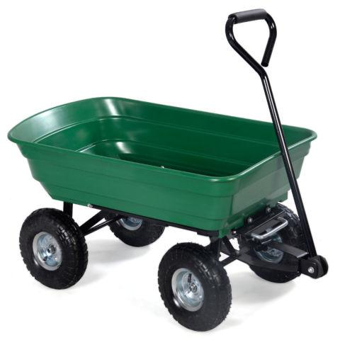 Garden Dump Cart Dumper Wagon Carrier Wheel Barrow Air