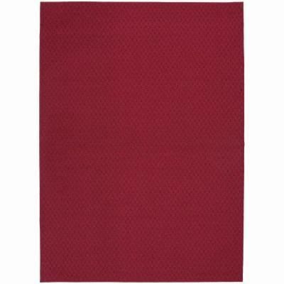 Garland Rug Town Square Chili Red 7 ft. 6 in. x 9 ft. 6 in. Area Rug