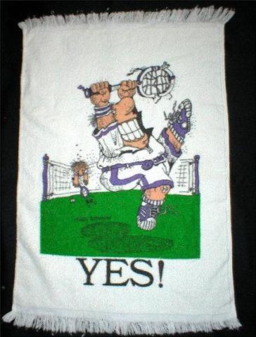Gary Patterson Cartoon - Tennis Player - Hand Towel