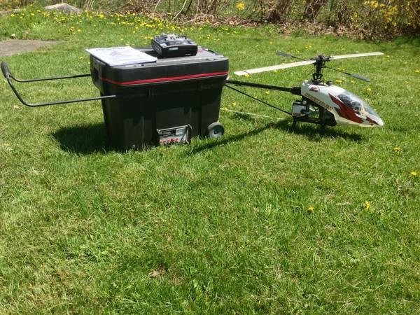 Gas powered Helicopter + Many Accessories - $750