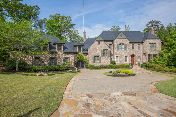 Gated brick and stone home for sale in atlanta georgia for American brick and stone