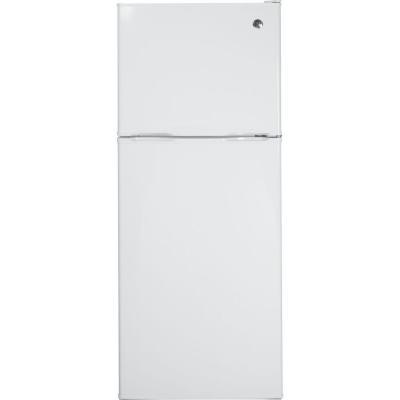 GE 11.55 cu. ft. Top Freezer Refrigerator in White