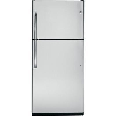 GE 18 cu. ft. Top Freezer Refrigerator in Stainless