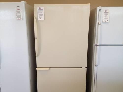 Ge Appliance Warranty >> GE 20 cubic foot Bisque Side by Side Refrigerator - USED for Sale in Tacoma, Washington ...