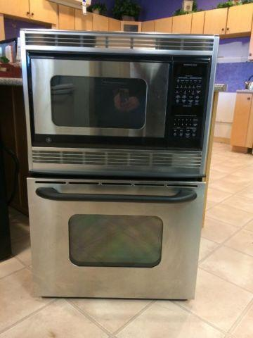 Ge 27 Quot Stainless Built In Combo Microwave Amp Oven Used