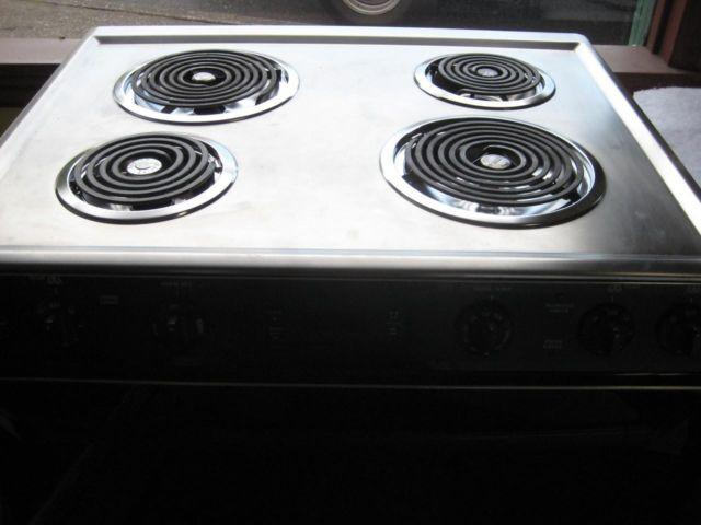 Ge 30 Inch Slide Electric Range Coil Burners 2 Large