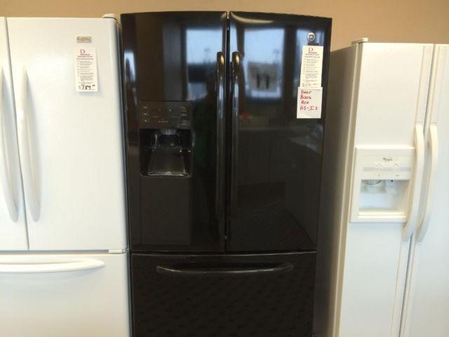 Ge Black French Door Refrigerator Freezer Used For Sale