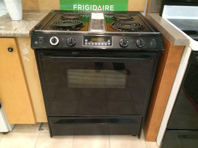 Ge black slide in downdraft range stove oven used for for Lakewood wood stove for sale