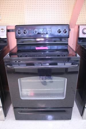 GE BLACK Smooth Top ELECTRIC Stove RANGE