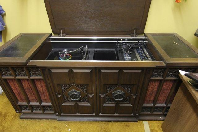 GE Cabinet Record Player with Radio