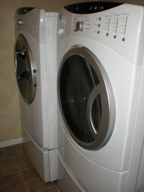 ge electric matching front load washer and dryer super capacity for sale in denver colorado. Black Bedroom Furniture Sets. Home Design Ideas