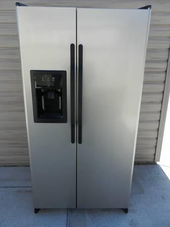 Ge Hotpoint Metallic Stainless Steel Side By Side