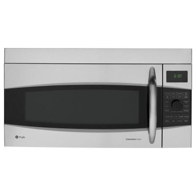 GE Profile 1.7 cu. ft. Over the Range Convection Microwave in Stainless Steel