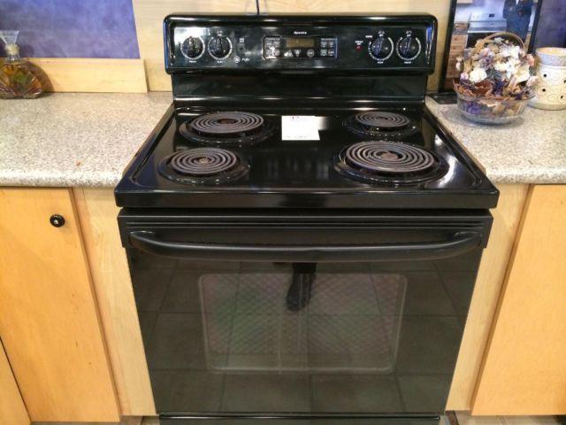 Ge Profile Black Coil Burner Stove Range Oven Used For