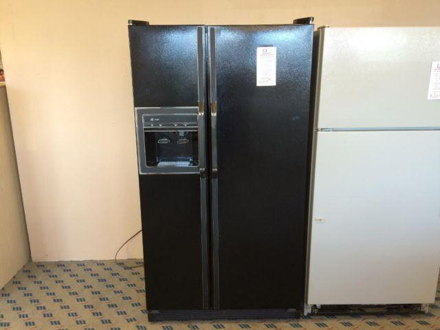 Ge Profile Black Side By Side Refrigerator Used For Sale