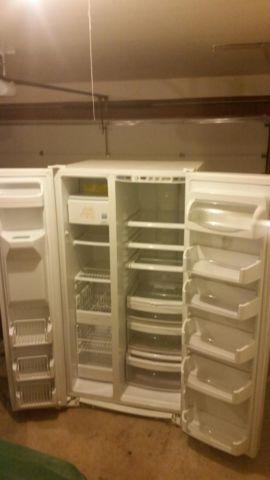 GE Profile side by side refrigerator