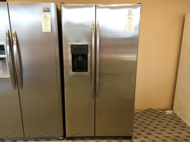 GE Profile Stainless Side by Side Refrigerator - USED