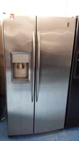 GE PROFILE STAINLESS STEEL SIDE BY SIDE REFRIGERATOR WATER WARRANTY - $499