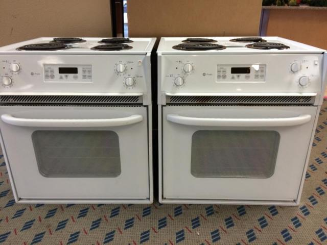 Ge profile white 27 drop in range stove oven used for for Lakewood wood stove for sale