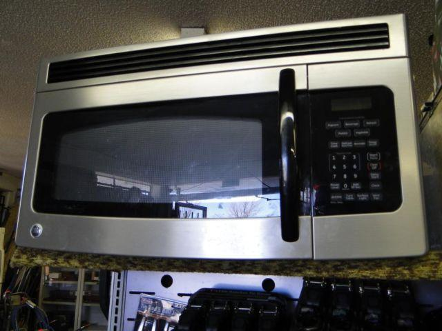 GE Stainless Steel Over the Range Microwave Oven Space Saver