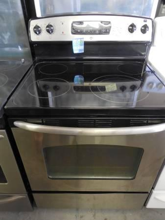 Ge Used Stainless Steel Glass Top Electric Range For Sale In Manor