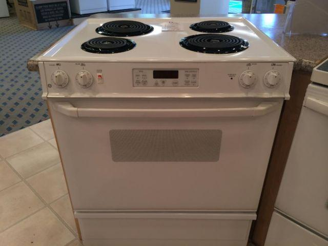 GE White Slide-In Electric Range Stove Oven - USED for ...