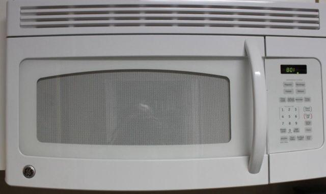 Ge White E Maker Over The Range Microwave Oven