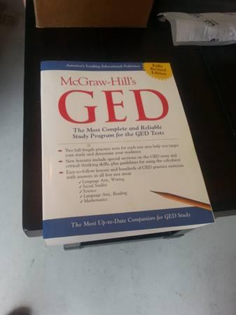 GED McGraw-hills (GED study program) - $10