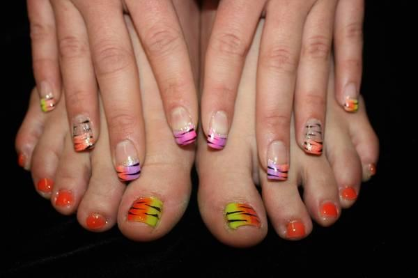 Glitter Toes Utah Glitter or Gel Toes