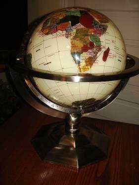 Gemstone Tabletop Globe