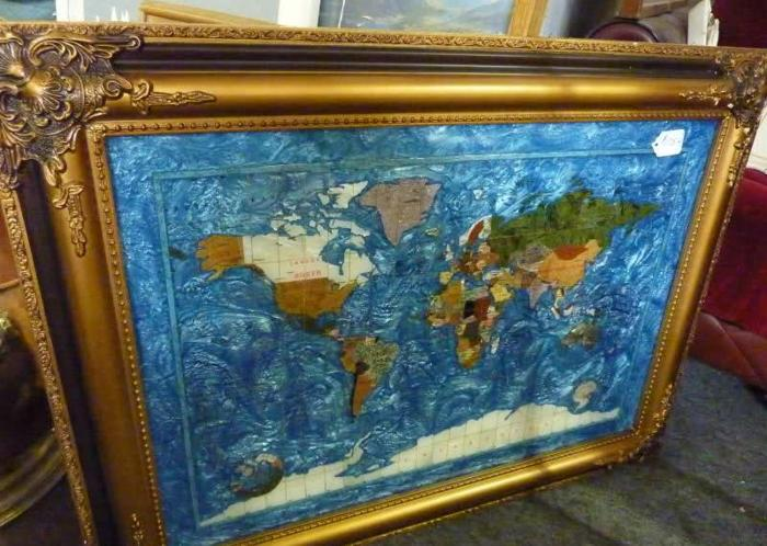Gemstone world map in gold gilted frame sarasota swift rd for gemstone world map in gold gilted frame 175 gumiabroncs Image collections