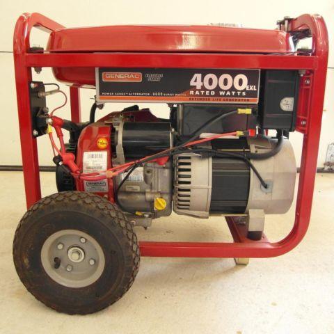 Generac 4000exl electric start generator LIKE NEW