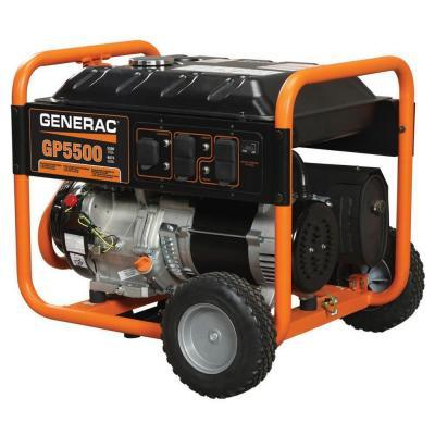 Generac GP5500 5500-Watt Gasoline Powered Portable Generator