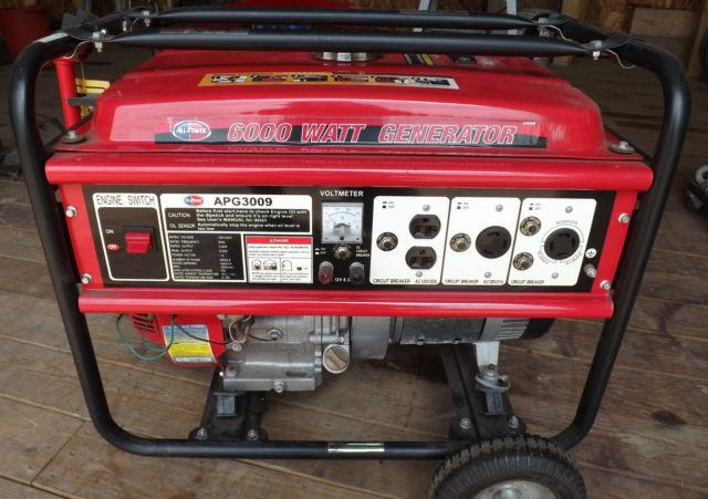 Generator, 6000 W, All-Power APG 3009, Used