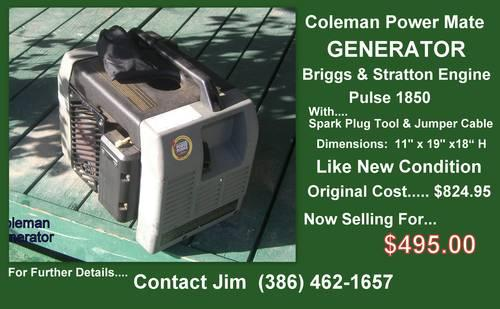GENERATOR...Almost New.....Reduced!