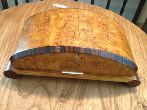 Gentlemans Accessories Burled Wood Storage Box